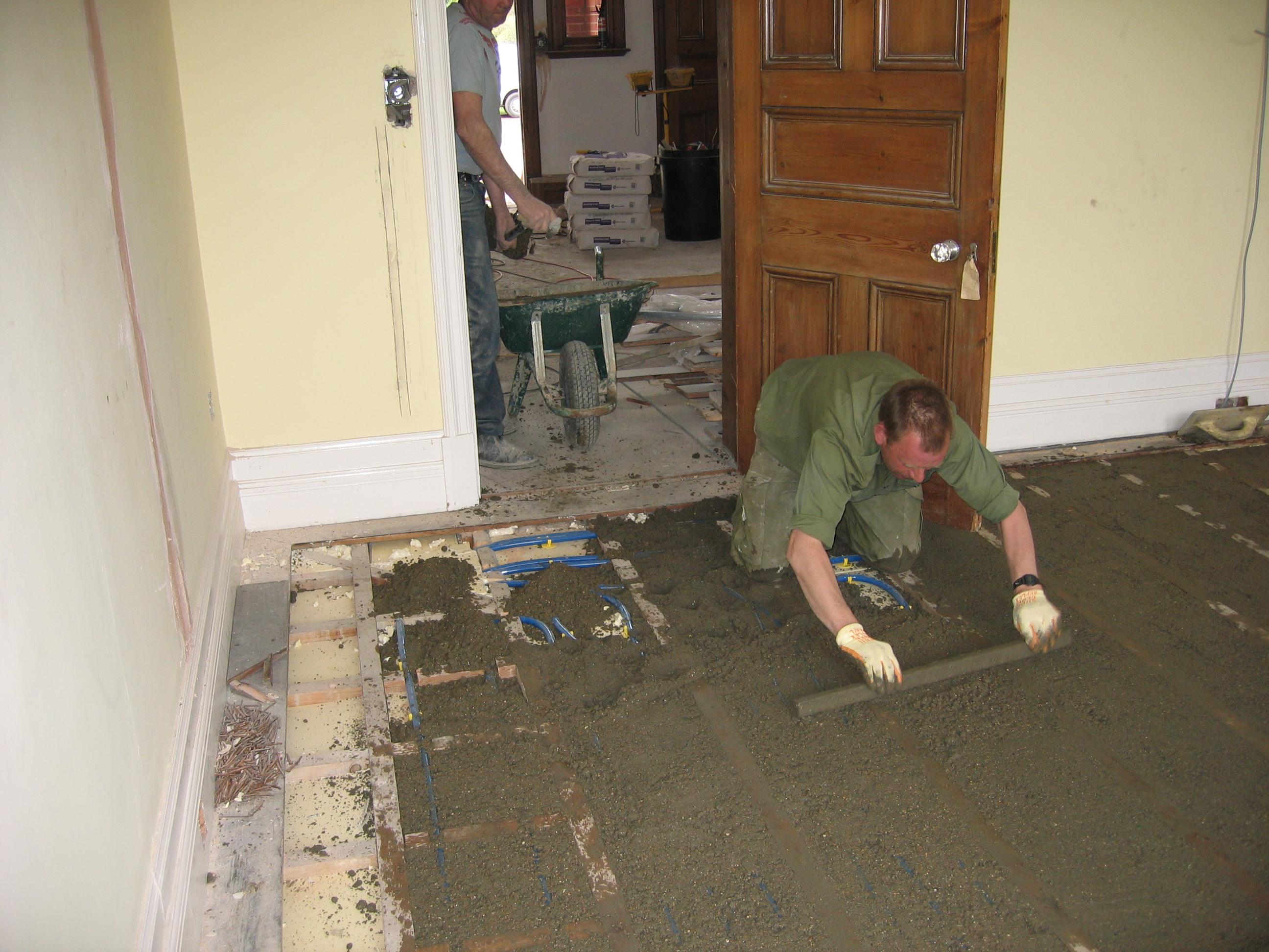 Screeding Bathroom Floor Levelling Screed Onto Floor Saxonstar
